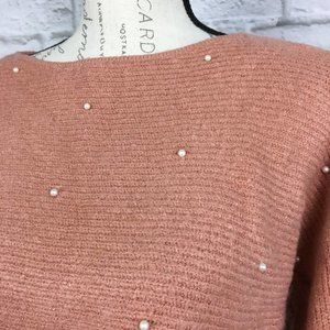Mustard Seed Sweaters - Mustard Seed Cropped Sweater with Pearls Size S